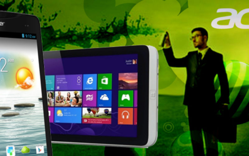 Acer presenta tableta con Windows y su primer telefono-tableta