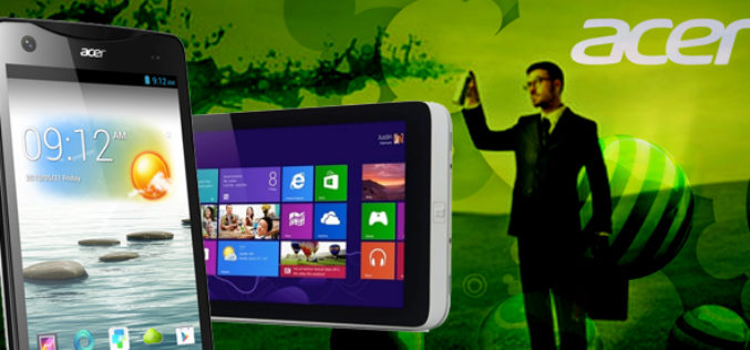 Acer unveils  the world's first 8.1-inch tablet and a new 'phablet'
