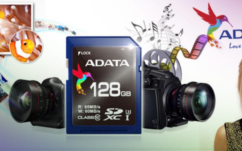 ADATA presenta tarjetas de memoria SDXC UHS-I Speed Class 3