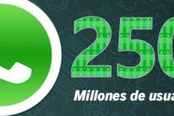 WhatsApp supera los 250 millones de usuarios