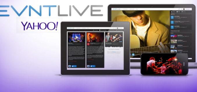 Yahoo! compra Evntlive, ofreciendo conciertos via streaming