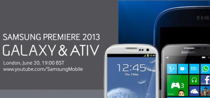 Samsung presentara nuevos Galaxy y Ativ en el Samsung Premiere 2013
