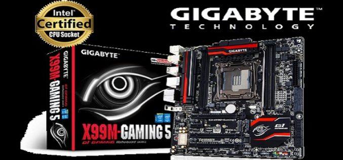 GIGABYTE presenta X99M-Gaming 5
