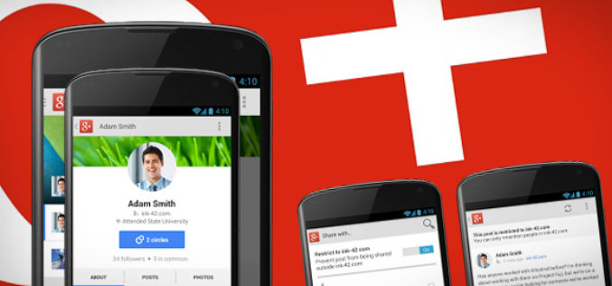 Nuevos cambios para la aplicacion de Google+ ofrecen seguridad