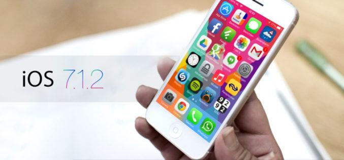 El lanzamiento de iOS 7.1.2