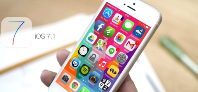 iOS 7.1 disponible a traves de actualizacion de software