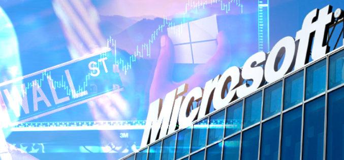Microsoft celebra record en plena transicion