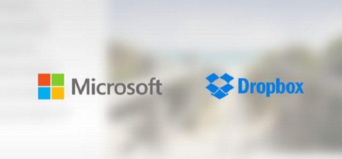Microsoft y Dropbox anuncian alianza de integracion