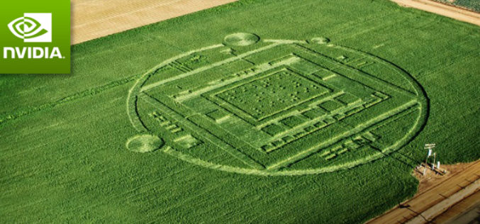 Crop circle caused by tech company