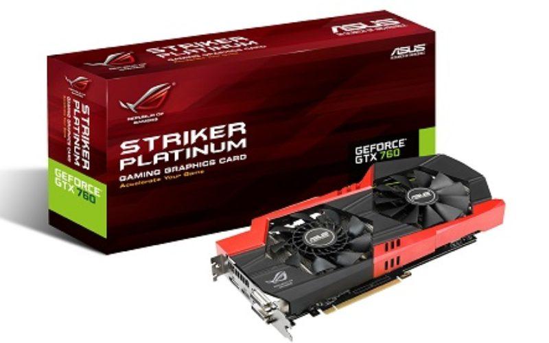 ASUS Republic of Gamers anuncia su placa de video GTX 760 Striker Platinum