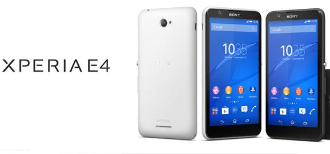 Sony presento su nuevo Xperia E4