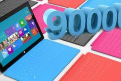 Microsoft ha vendido casi 900,000 Surfaces
