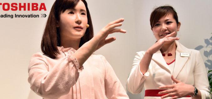 Toshiba presento un prototipo de robot social