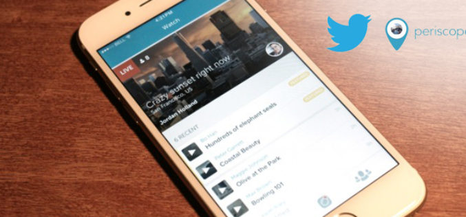 Twitter estrena video en directo con Periscope