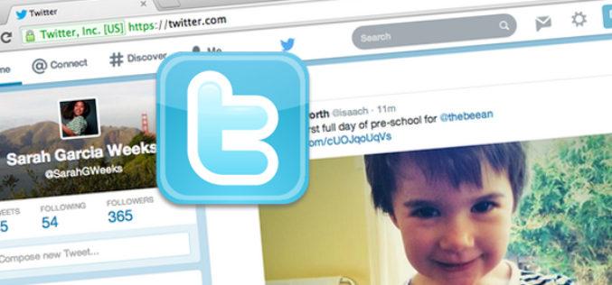 Twitter redisena su pagina web