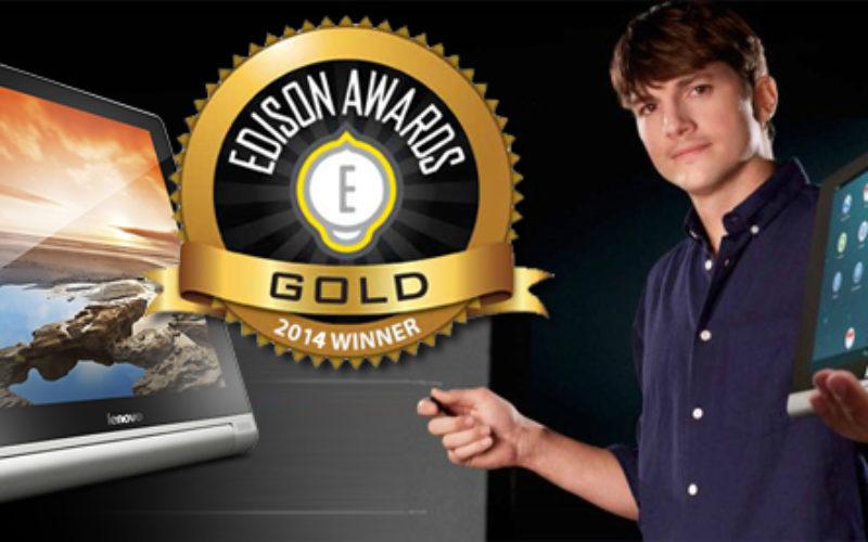 Yoga Tablet de Lenovo recibe el premio Edison de Oro