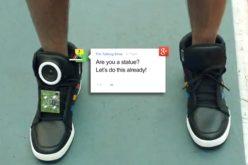 Con Google todo se puede: Ahora las zapatillas hablan