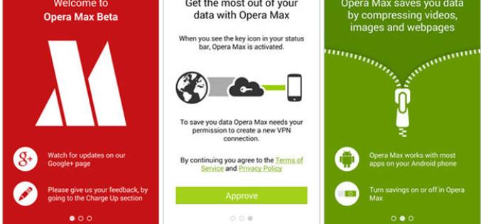 Opera Max, comprime datos y acelera las conexiones de tu smartphone