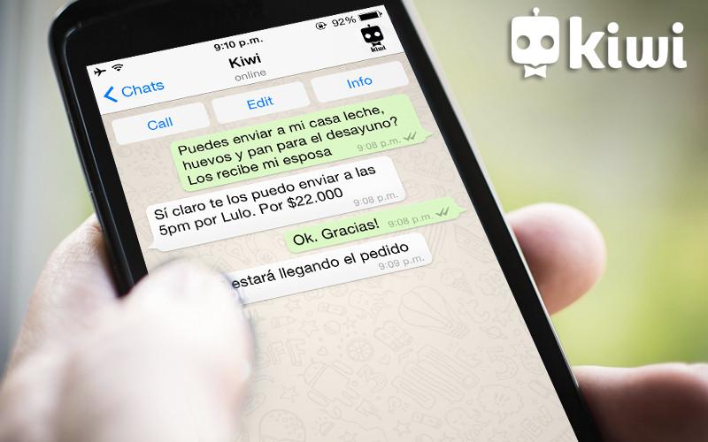 Pide lo que quieras por Whatsapp con Kiwi