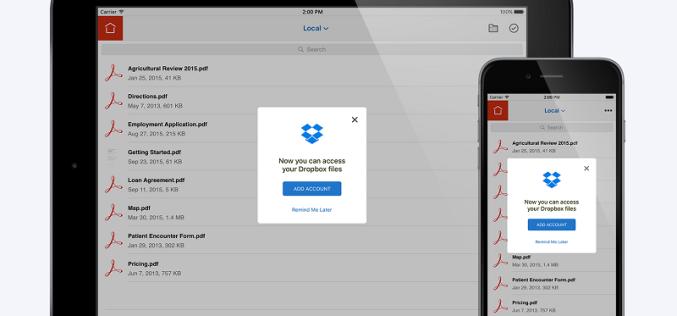 Adobe trabaja con Dropbox para usar mejor el PDF