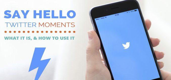 Ahora más creadores pueden editar sus propios Moments en Twitter