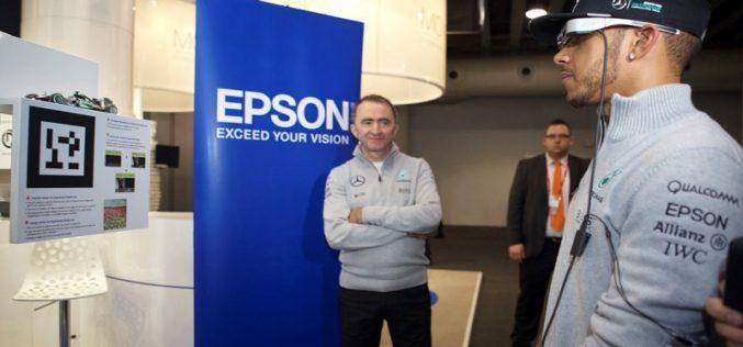 Equipo de Fórmula 1 Mercedes-Benz disfrutó de los lentes inteligentes Moverio de Epson