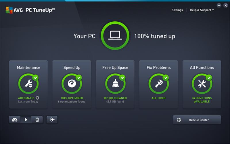 El nuevo modo de espera de AVG TuneUp optimiza las PC lentas