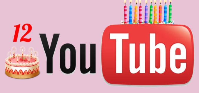 YouTube cumple 12 años