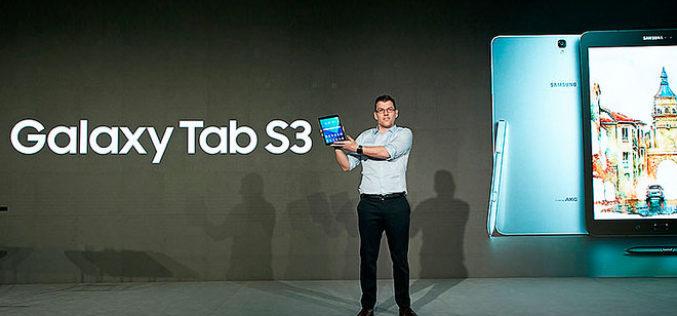 Samsung amplía el portfolio de tablets con Galaxy Tab S3 y Galaxy Book, ofreciendo entretenimiento y productividad móviles mejorados