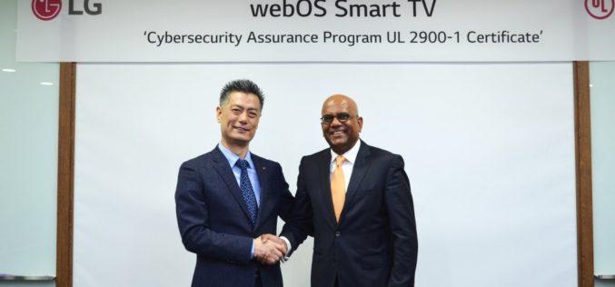LG Webos 3.5 Security Manager alcanza la  certificación del programa de garantía de  seguridad cibernética