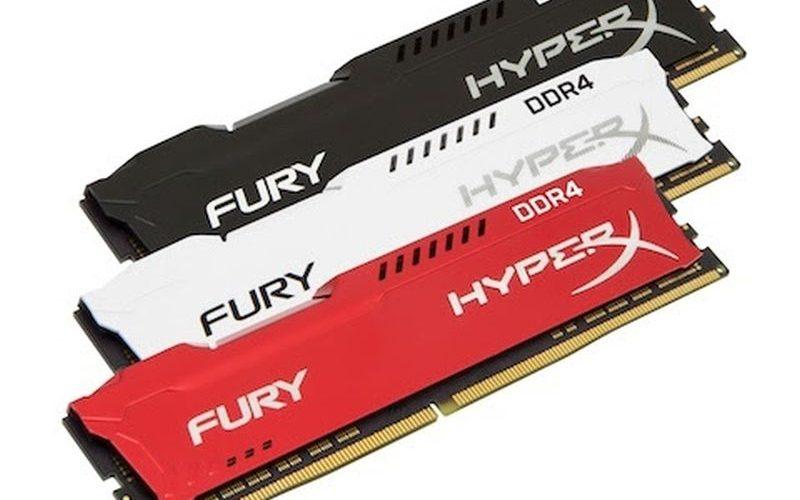 HyperX expande su línea de memoria FURY DDR4 con overclocking automático plug-and-play de hasta 2666MHz