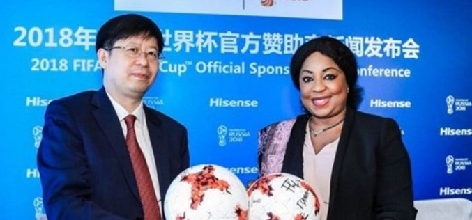 Hisense será Sponsor Oficial de la Copa MundialTMde la FIFA 2018