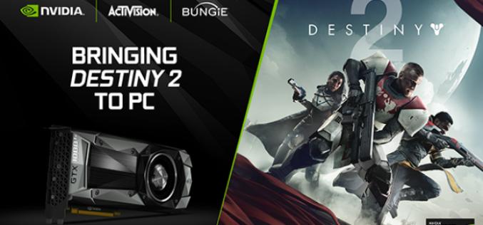 NVIDIA colabora con Activision y Bungie para el lanzamiento de 'Destiny 2'para PC