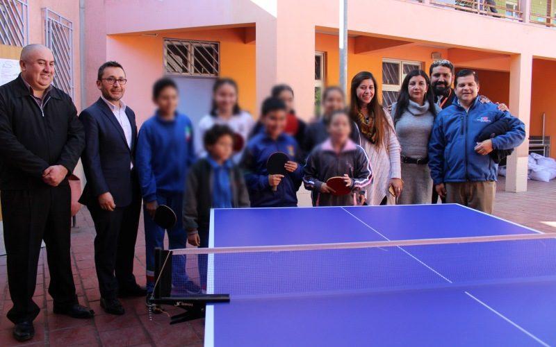 """La Región de Atacama impulsa el deporte con la inauguración del proyecto """"Escuela de Tenis de Mesa"""""""