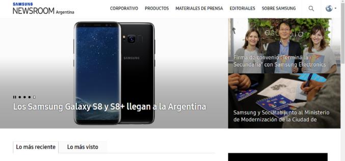 Samsung Argentina presenta su nuevo newsroom de prensa local