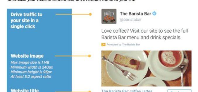 Twitter evoluciona sus productos y anuncia video Website Card