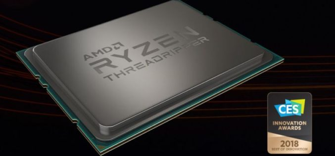 AMD Ryzen  Threadripper 1950X premiado en CES 2017