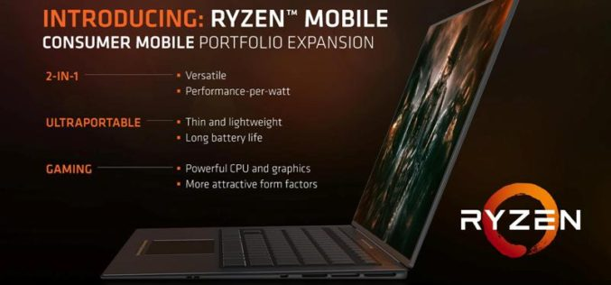 Conoce los nuevos procesadores Ryzen Mobile, más rápidos del mundo para notebooks ultradelgadas