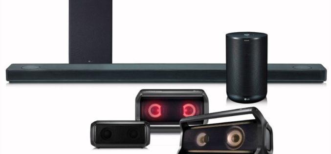 La nueva línea de bocinas 2018 de LG con sonido premium, facilidad de uso y capacidades inteligentes