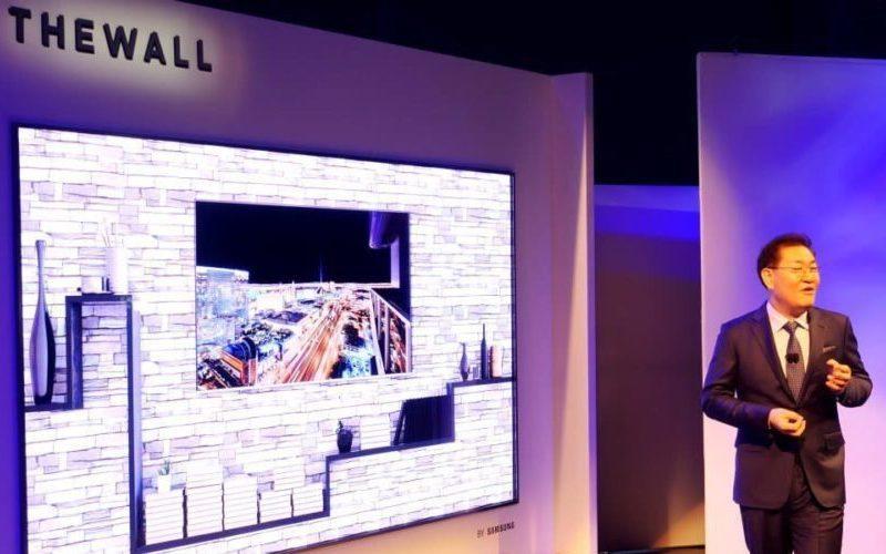 "CES 2018: Samsung presentó ""The Wall"", el primer TV modular MicroLED de 146 pulgadas"