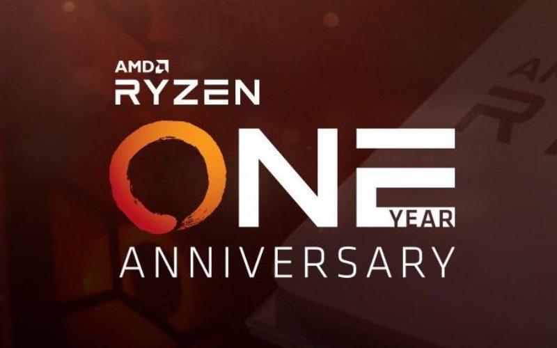 AMD celebra el primer aniversario del lanzamiento Ryzen