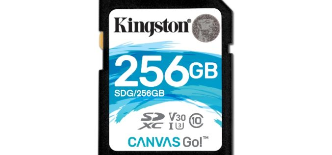 Kingston Digital anuncia Canvas Go! de 256GB