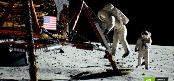 A la luz de la luna: Turing recrea la escena del icónico alunizaje