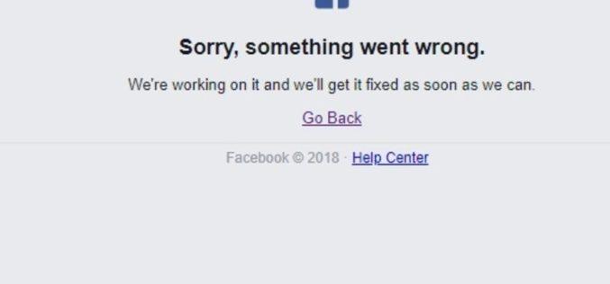 Facebook sufre caída mundial