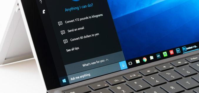 Microsoft separa la búsqueda de Cortana en Windows 10