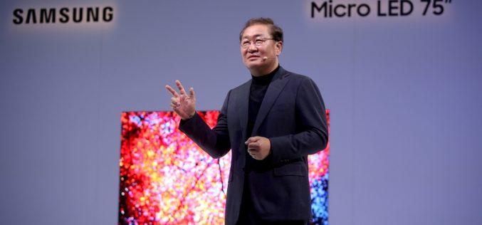 Samsung presentó en CES el futuro de las pantallas con tecnología MicroLED modular